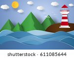 Seascape With Lighthouse And...