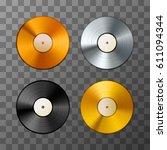 set of golden  platinum and... | Shutterstock .eps vector #611094344