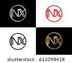 nx text logo | Shutterstock .eps vector #611098418
