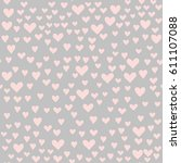 various pink little hearts... | Shutterstock .eps vector #611107088