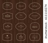 set of frame label and elements ... | Shutterstock .eps vector #611110274