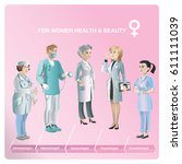 cartoon healthcare medical...   Shutterstock .eps vector #611111039
