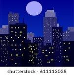 night city background. vector...