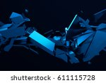 abstract 3d rendering of... | Shutterstock . vector #611115728