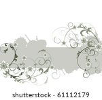 background with flower | Shutterstock .eps vector #61112179