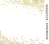 gold glitter background polka... | Shutterstock .eps vector #611129444