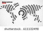 abstract world map of radial... | Shutterstock .eps vector #611132498