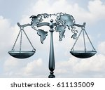 international law and global... | Shutterstock . vector #611135009