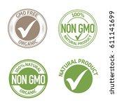 organic natural non gmo product ... | Shutterstock .eps vector #611141699