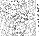 tracery seamless pattern....   Shutterstock .eps vector #611141999