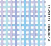 hand drawn plaid seamless... | Shutterstock .eps vector #611152418