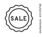 sale badge thin line vector... | Shutterstock .eps vector #611156768