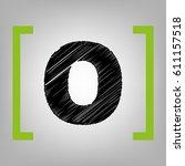 letter o sign design template... | Shutterstock .eps vector #611157518