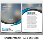 abstract vector modern flyers... | Shutterstock .eps vector #611158988