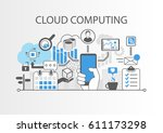 cloud computing vector... | Shutterstock .eps vector #611173298