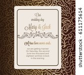 antique baroque luxury wedding... | Shutterstock .eps vector #611175614