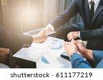 business concept  business man... | Shutterstock . vector #611177219