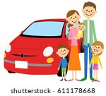 family and car | Shutterstock .eps vector #611178668