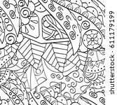 tracery seamless pattern.... | Shutterstock .eps vector #611179199