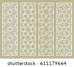 abstract cutout panels for... | Shutterstock .eps vector #611179664