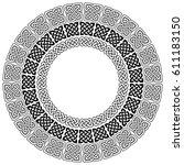 mandala style celtic style... | Shutterstock .eps vector #611183150