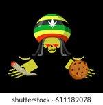 rasta death offers cookies and... | Shutterstock . vector #611189078