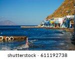 klima fishing village  milos ... | Shutterstock . vector #611192738