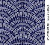 vector abstract seamless... | Shutterstock .eps vector #611193536