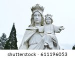 madonna with child  | Shutterstock . vector #611196053