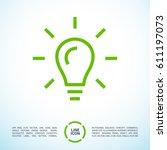 lamp bulb line vector icon | Shutterstock .eps vector #611197073