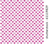 pink hearts with white fill... | Shutterstock .eps vector #61119829