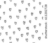 hand drawn  seamless pattern of ... | Shutterstock .eps vector #611202728