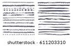 set of vector grunge brushes.... | Shutterstock .eps vector #611203310