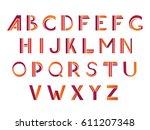 typographic alphabet design set ... | Shutterstock .eps vector #611207348