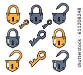 Old Padlock And Keys. Options...