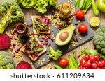 Healthy Vegan Food. Fresh...