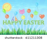easter cute illustration | Shutterstock .eps vector #611211308