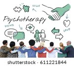 mental health care sketch... | Shutterstock . vector #611221844