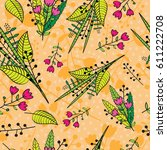 abstract floral background.... | Shutterstock .eps vector #611222708