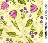 abstract floral background.... | Shutterstock .eps vector #611222720