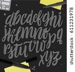 vector alphabet background.... | Shutterstock .eps vector #611231978