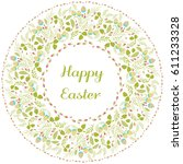 happy easter greeting card with ... | Shutterstock .eps vector #611233328