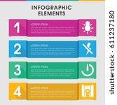 modern photographer infographic ... | Shutterstock .eps vector #611237180