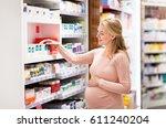 pregnancy  medicine  people ... | Shutterstock . vector #611240204