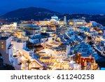 Fira Town Aerial Panoramic Vie...