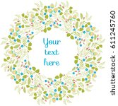 spring greeting card pattern.... | Shutterstock .eps vector #611245760