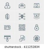 vector illustration of 12... | Shutterstock .eps vector #611252834