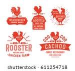 Big Set Of Vintage Rooster...