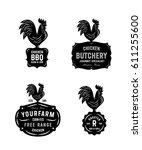 set of black bold and crisp...   Shutterstock .eps vector #611255600
