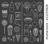 hand drawn outline collection... | Shutterstock .eps vector #611255828